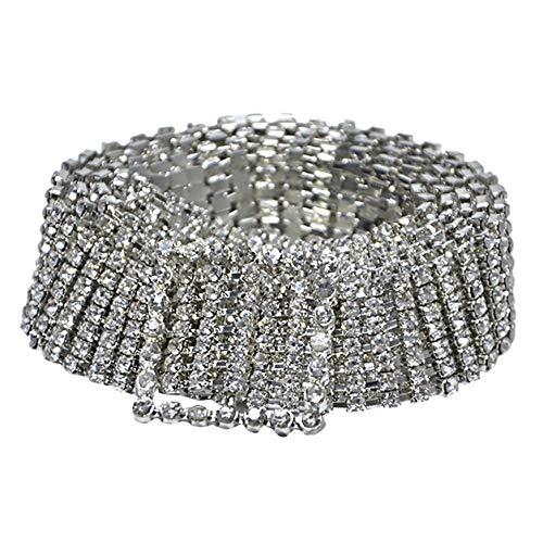 TIFENNY Rhinestone Belt Fashion Full Rhinestone Shiny Waistband for Women Party Dress Belt Chain Girdle