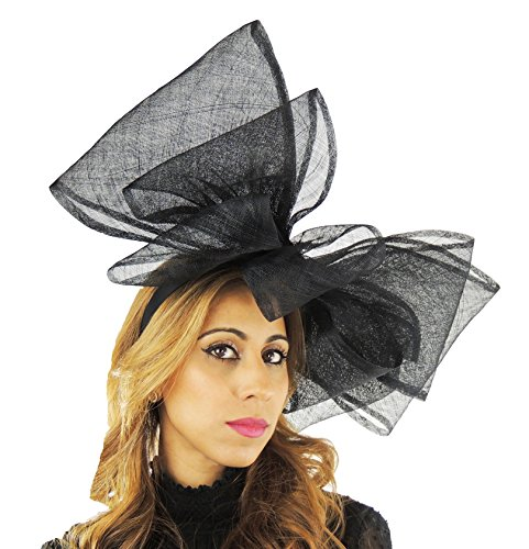 Hats By Cressida Ladies Kentucky Derby Ascot Wedding Fascinator Hat Black by Hats By Cressida