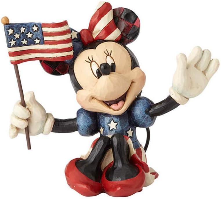 Jim Shore Disney Traditions by Enesco Mini Patriotic Minnie