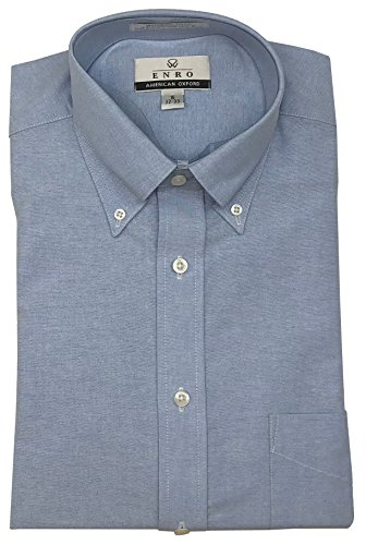Enro American Oxford Button Down Collar Dress Shirt (Blue, 16 34/35) ()