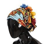 Dolce & Gabbana Floral Fruit Roses Crystal Silk Headwear Turbane