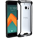Image of POETIC Affinity Series Premium Thin Dual Material Slim Fit Bumper Case for HTC 10 - Black/Clear