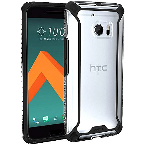 Poetic Affinity Slim Fit Dual Material Protective Bumper Case for HTC 10 - Black/Clear