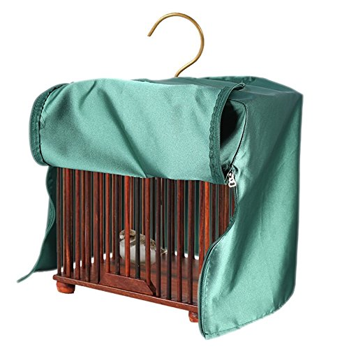 Universal Bird Cage Cover Polyester Waterproof Parrot Canary Shade Cloth Pet Products-Square , Green
