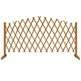 Deuba Freestanding 180 x 107 cm Wooden Garden Trellis Fence Arched Plant Growing Support Screen