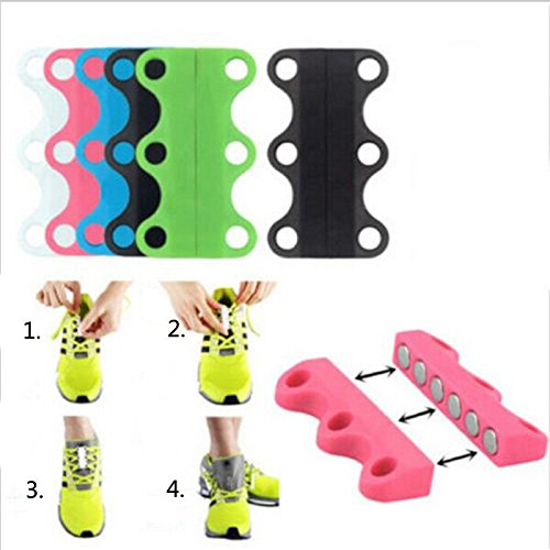 2PCs/Pair Magnetic Shoes Closures No-tie lazy shoelaces Innovative Casual Motion magnetic buckle quickly without tying shoelace (Lace Motion)