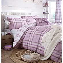 Catherine Lansfield Kelso Heather Tartan King Duvet Set by Kissing Interiors