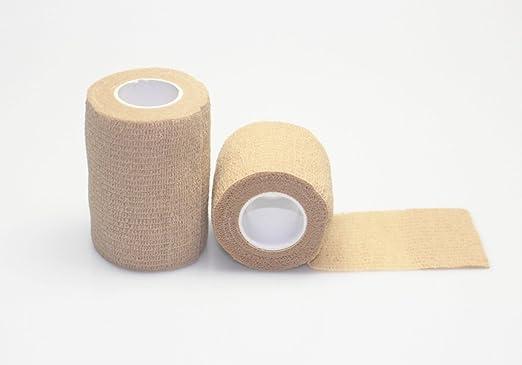 kelaina 1 pc 10 cm deportes cinta Músculos Cuidado cinta algodón médico de compresión (color de la piel): Amazon.es: Hogar