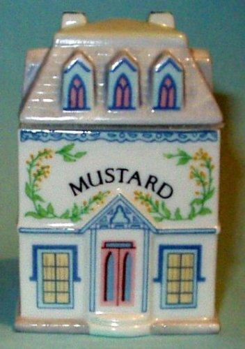 Mustard 'Lenox Spice Village' Porcelain Victorian House Spice Jar