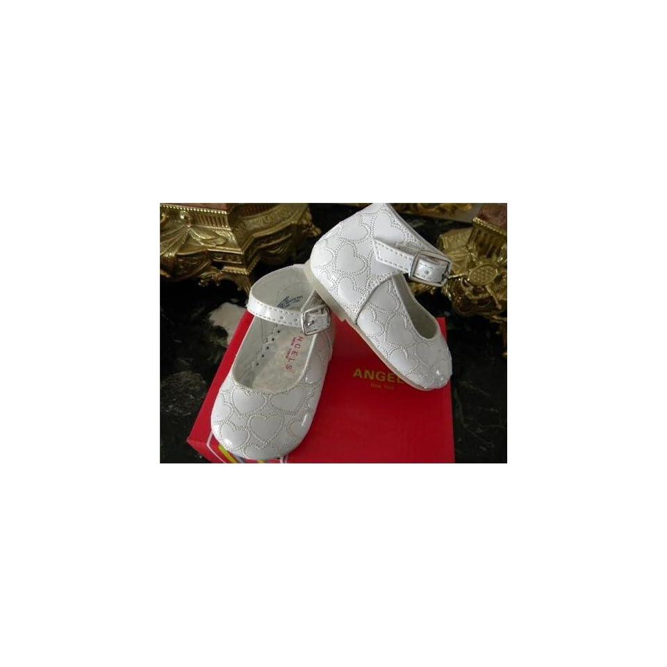 Infant & Toddler Baby Girl White Dress Leather Shoes Tuxedo Style . Weddings ,Christening Baptism #4234/size 6