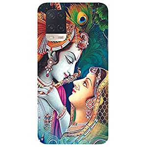 Unaxo Radha Krishna,LoveDesign Printed Back Cover for Oppo A54 / CPH2239,Back Case for Oppo A54 / CPH2239