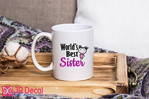 World Best Sister - Gifts for sister - Tea Cups Coffee Mug, Islamic weeding gift, Best wish mug printed sister Mugs by JR Decal Wall Sticker
