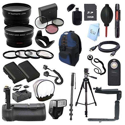Deluxe 58MM 24 Piece Accessory Bundle for Canon 70D Digital SLR Camera (Fits 18-55MM, EF50MM EF75-300MM,EF-S 55-250MM)