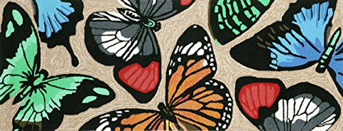 Area Rugs - Beautiful Butterflies Rug - 27'' x 72'' Runner - Butterfly Rug - Indoor Outdoor Rug by KensingtonRow Home Collection