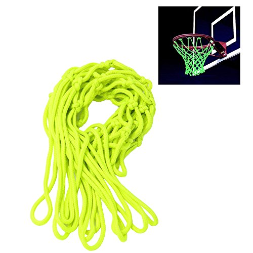 LightTheBo Glow In The Dark Nylon Basketball Net Portable Outdoor Sun Powered Sports Basketball Hoop Net (2 Pack)