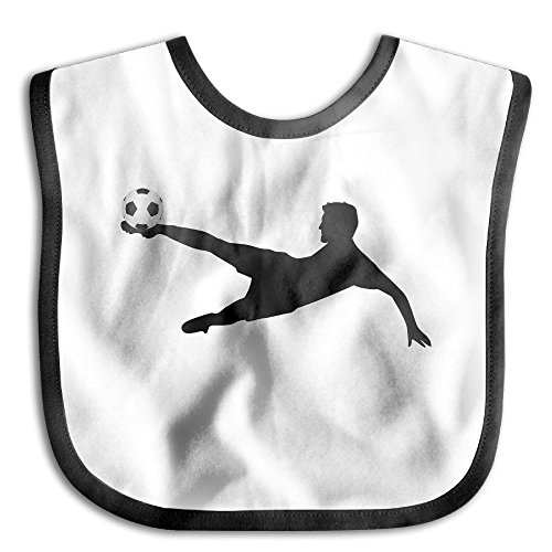 Safe Cotton Kids Lunch Bibs Soccer Player Baby Saliva Towel Cute Feeding Snap -