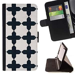 Momo Phone Case / Flip Funda de Cuero Case Cover - Confesionario Negro Patrón Puertas - LG G4