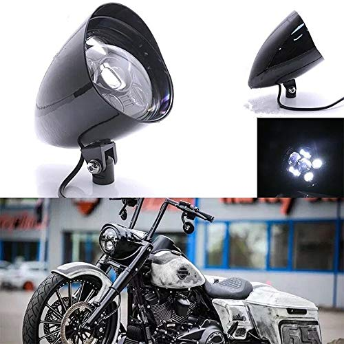 - Universal LED Bullet Motorcycle Head Light Headlight For Harley Honda Yamaha Suzuki Kawasaki Touring Custom