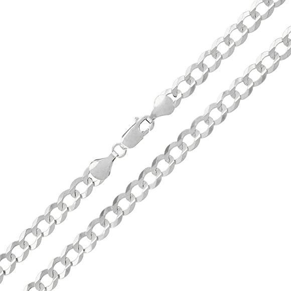 """Made In Italy Solid Sterling Silver 8.5mm Miami Cuban Curb Link 925 Bracelet 9/"""""""
