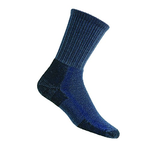 Thorlos Unisex KLT Hiking Thick Padded Crew Sock, Blue, Large