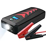 Car Jump Starter Emergency Kit 1000A Peak (up to 8.0L Gas or 6.0L Diesel), Multifunction 24000mAh Quick Charge Power Bank with Dual USB Charge Port, Built-in LED Emergency Flashlight