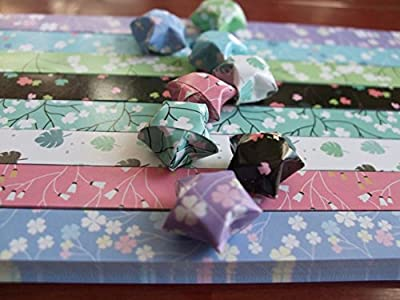 Origami Stars Papers Package (Flower Leaves) - 8 Colors - With Instruction