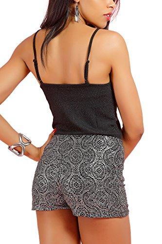 INFINIE PASSION - Lurex negro - Sexy top negro negro