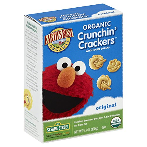Earth's Best Organic Crunchin' Crackers, Original, 5.3 Ounce (Pack of 6)