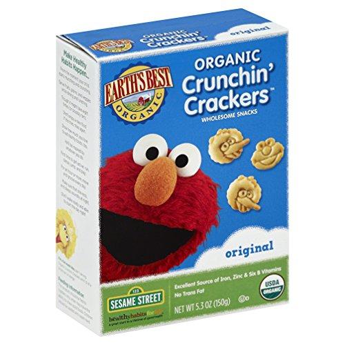 Earth's Best Organic Crunchin' Crackers, Original, 5.3 Ounce (Pack of 6)