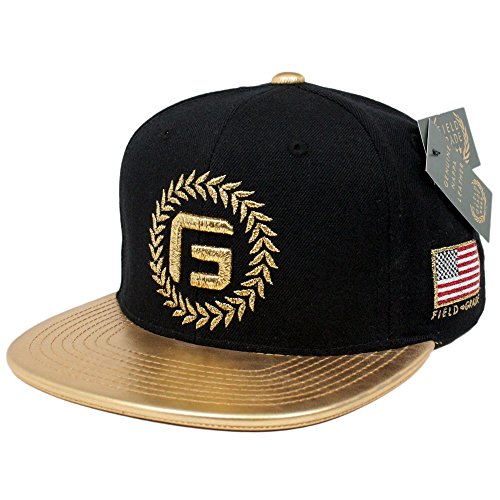 enuine Nappa Gold Leather Snapback ()