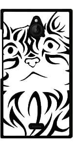 Funda para Nokia X2 - Gato Tribal by WonderfulDreamPicture