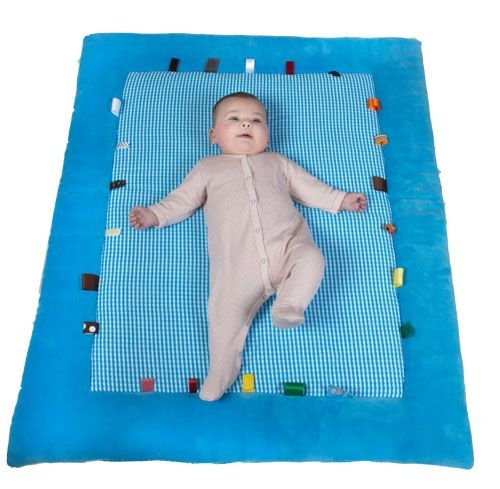 Snoozebaby Cheerful Playing Playmat, Blue