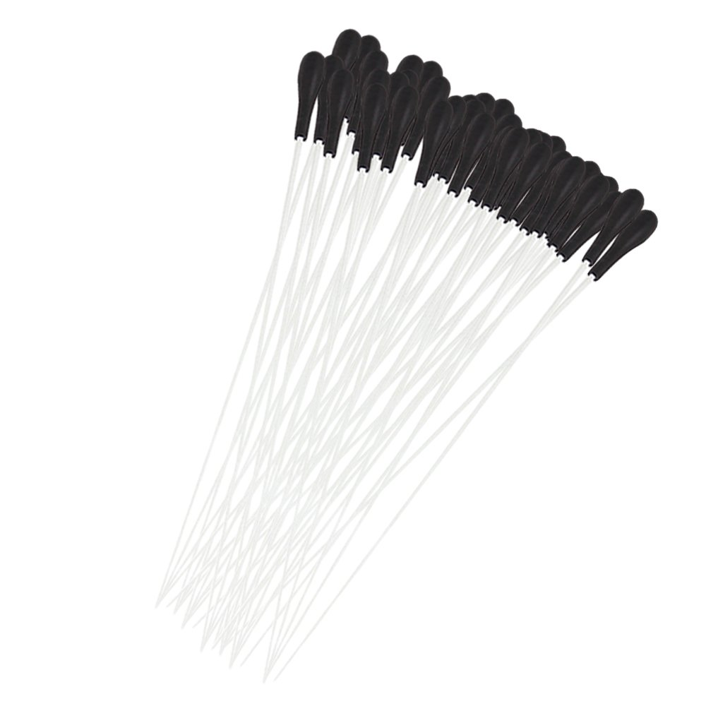 Yibuy White Fibre Glass Music Conductor Baton with Black ABS Handle Set of 40