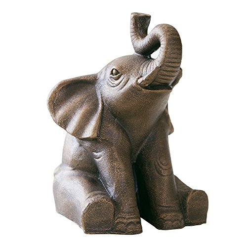 Happiness Good Luck Elephant Statue Home Garden Decor Zen ()