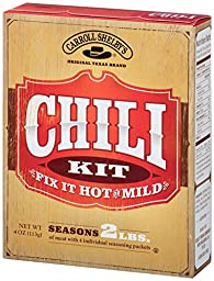 Carroll Shelby\'s Original Texas Chili Kit, 4-Ounce Boxes (Pack of 12)