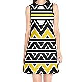 Casual Summer Fashion Dress National Style Pattern Sleeveless Dress Shirt for Girls