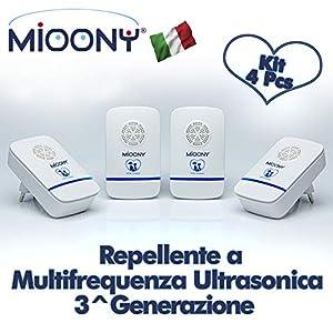 MIOONY® Repellente Ultrasuoni Anti Zanzare a Multifrequenza di 3a Generazione Contro Topi Cimici Insetti Ragni Formiche… 1 spesavip