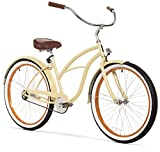 sixthreezero Women's 1-Speed 26-Inch Beach Cruiser Bicycle, Scholar Cream