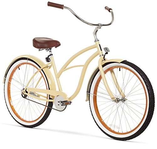 sixthreezero Women's 1-Speed 26-Inch Beach Cruiser Bicycle, Scholar Cream Ladies Beach Cruiser Bike