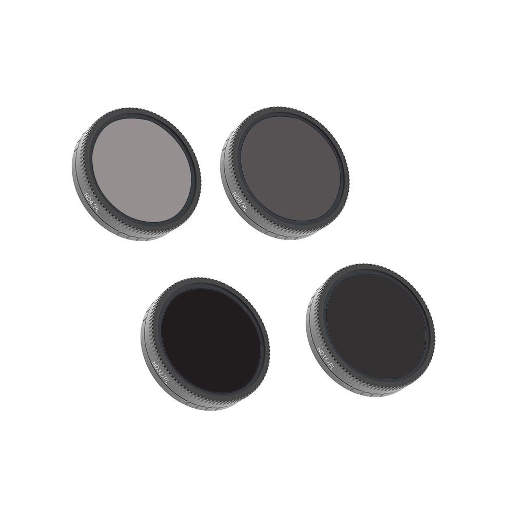 Sonmer Camera Lens Filters For DJI Osmo Action Camera, 4PC ND4-PL+ND8-PL+ND16-PL+ND32-PL
