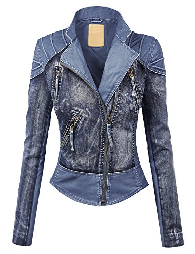 Denim Moto Jacket - 8