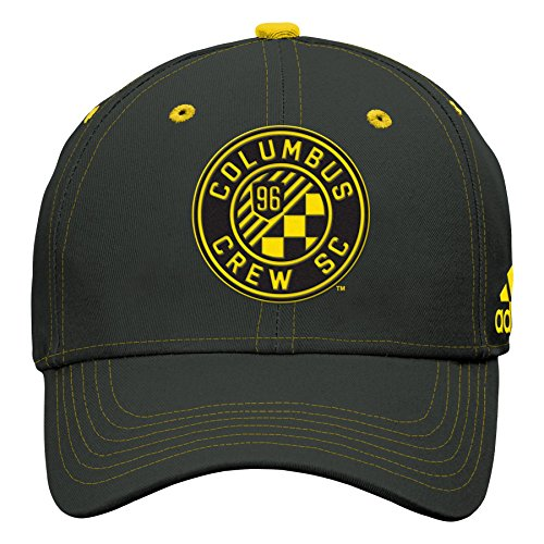 Outerstuff MLS Columbus Crew Boys Tonal Logo Structured Adjustable Hat, Black, One Size (8)