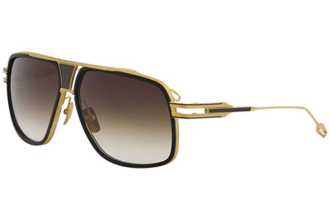 fd969b8caa40 Image Unavailable. Image not available for. Colour  Dita Grandmaster Five  DRX-2077A DRX2077A Black 18K Gold Pilot Sunglasses 64mm