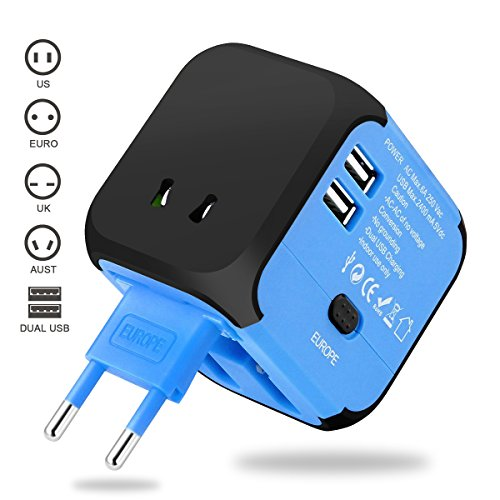 Universal Travel Adapter, VOGTEL Worldwide All in One Power