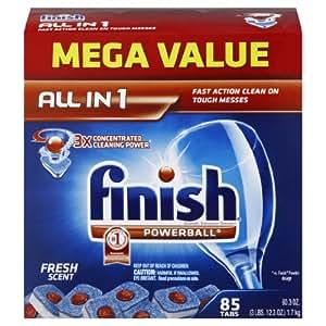 Amazon.com: Finish Powerball Tabs detergente lavaplatos ...