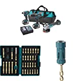 Makita XT324 18V LXT Lithium-Ion Cordless 3-Pc. Combo Kit with  Impact Gold Torsion Bit Set (38 Piece) and Ultra-Magnetic Torsion Insert Bit Holder