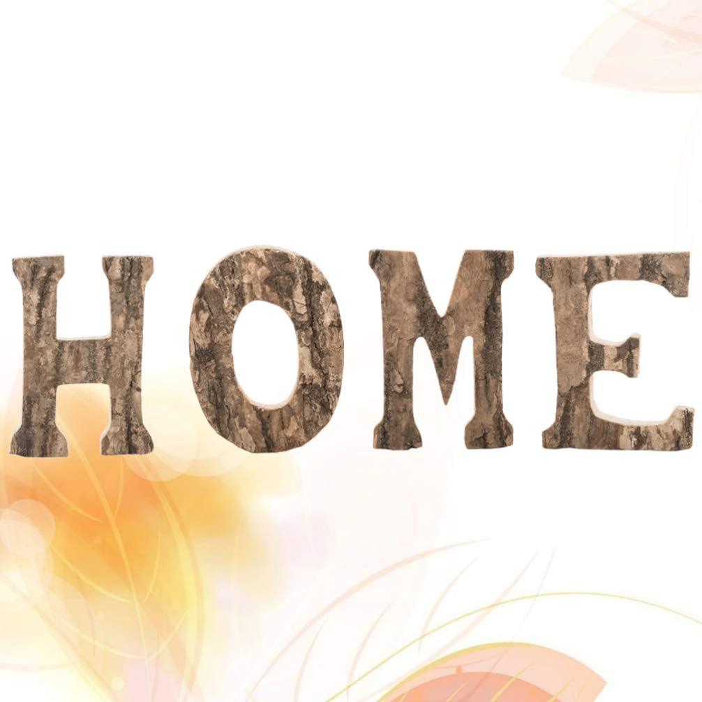 NUOBESTY Segno di casa in Legno Rustico per la Decorazione della Festa Nuziale Soggiorno
