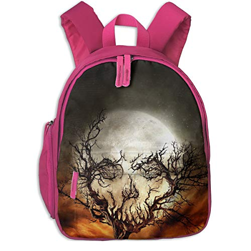 (DAISANY Digital Art Portrait Display Nature Trees Skull Moon Stars Spooky Halloween Silhouette Imagination Roots Sky Night Branch Optical Illusion Fence Cute Girl Backpack School)