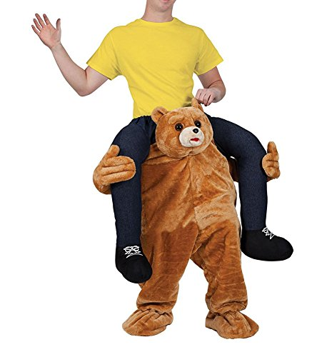 [Unisex Ride On Riding Shoulder Adult Costume,Bear Costume] (Carry Me Ride On Costume)