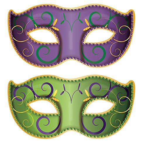 Beistle Jumbo Mardi Gras Mask Cutouts -